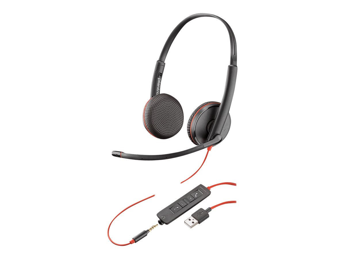 Poly Blackwire 3225 - 3200 Series - Headset - On-Ear - kabelgebunden - USB, 3,5 mm Stecker