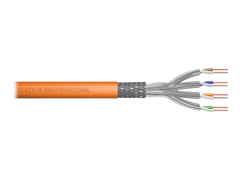 DIGITUS Professional - Bulkkabel - 100 m - SFTP, PiMF - CAT 7 - orange, RAL 2000