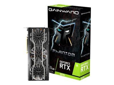 Gainward GeForce RTX 2070 Phantom - Grafikkarten - GF RTX 2070 - 8 GB GDDR6 - PCIe 3.0 x16 - HDMI, 3 x DisplayPort, USB-C