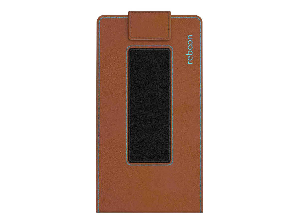 reboon boonflip XS3 - Flip-Hülle für Mobiltelefon - Leder - Braunes Leder
