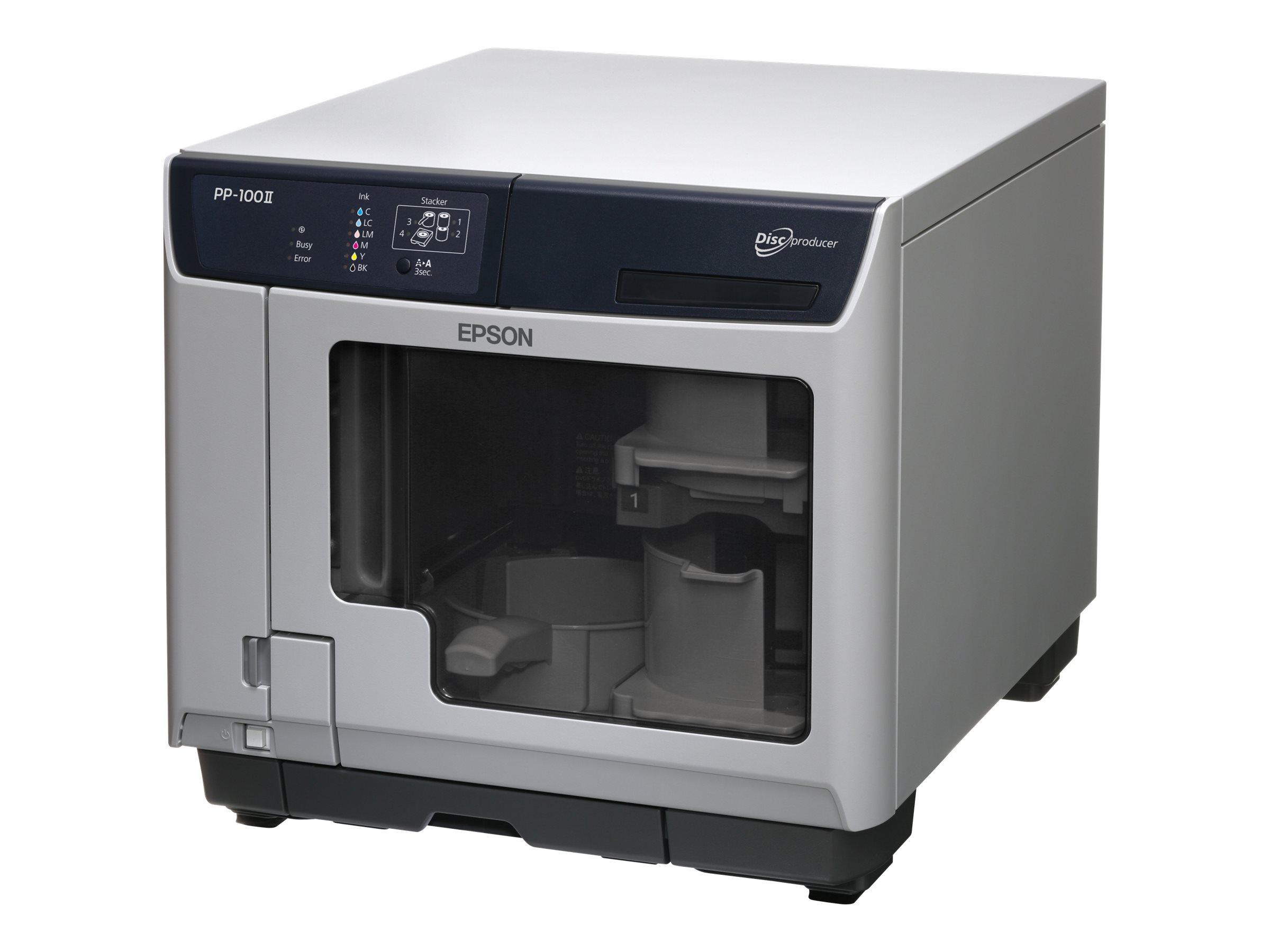 Epson Discproducer PP-100II - Disk-Kopiergerät - Steckplätze: 100 - DVD±R (±R DL) x 2 - SuperSpeed USB 3.0 - extern
