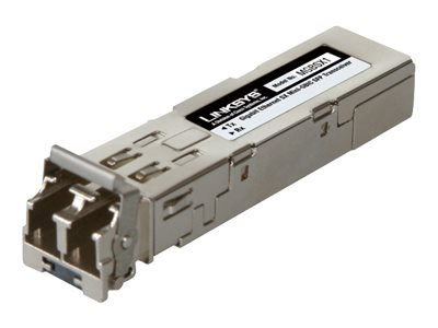 Linksys MGBSX1 - SFP (Mini-GBIC)-Transceiver-Modul - GigE - 1000Base-SX - 850 nm - für Linksys 24-Port 10/100, 24-Port 10/100/10