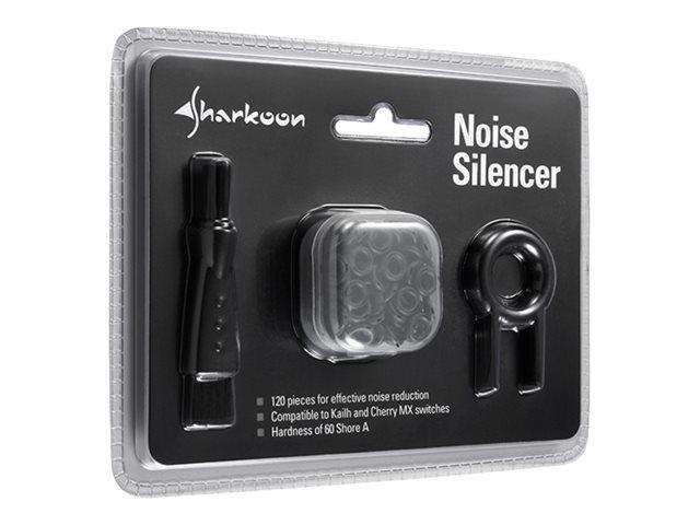 Sharkoon Noise Silencer - Geräusch-Unterdrückungsset für Tastatur-Tasten - Schwarz