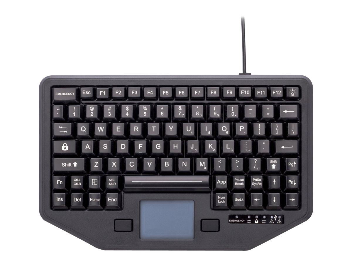 iKey Full Travel - Tastatur - mit Touchpad - hinterleuchtet - USB