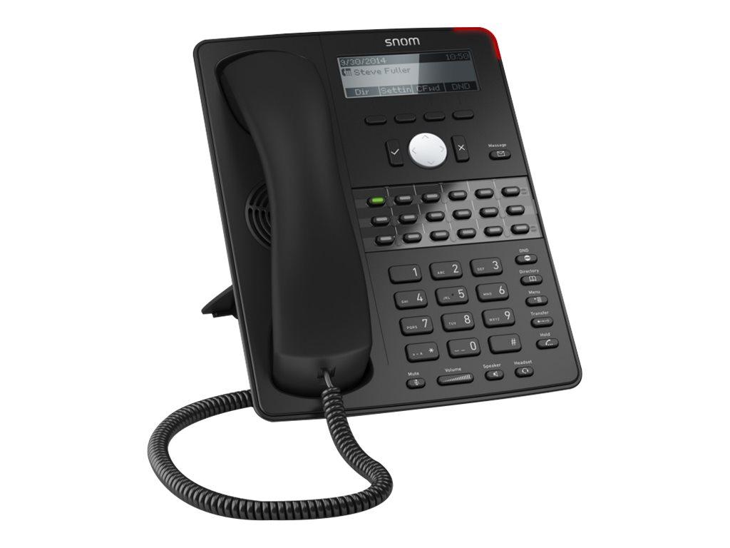 snom D725 - VoIP-Telefon - dreiweg Anruffunktion - SIP - 12 Leitungen - Schwarz