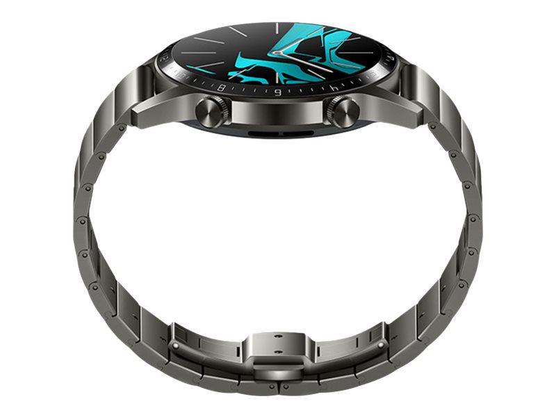 Huawei Watch GT 2 - Elite - 46 mm - titangrauer Edelstahl - intelligente Uhr mit Gliederarmband - Edelstahl