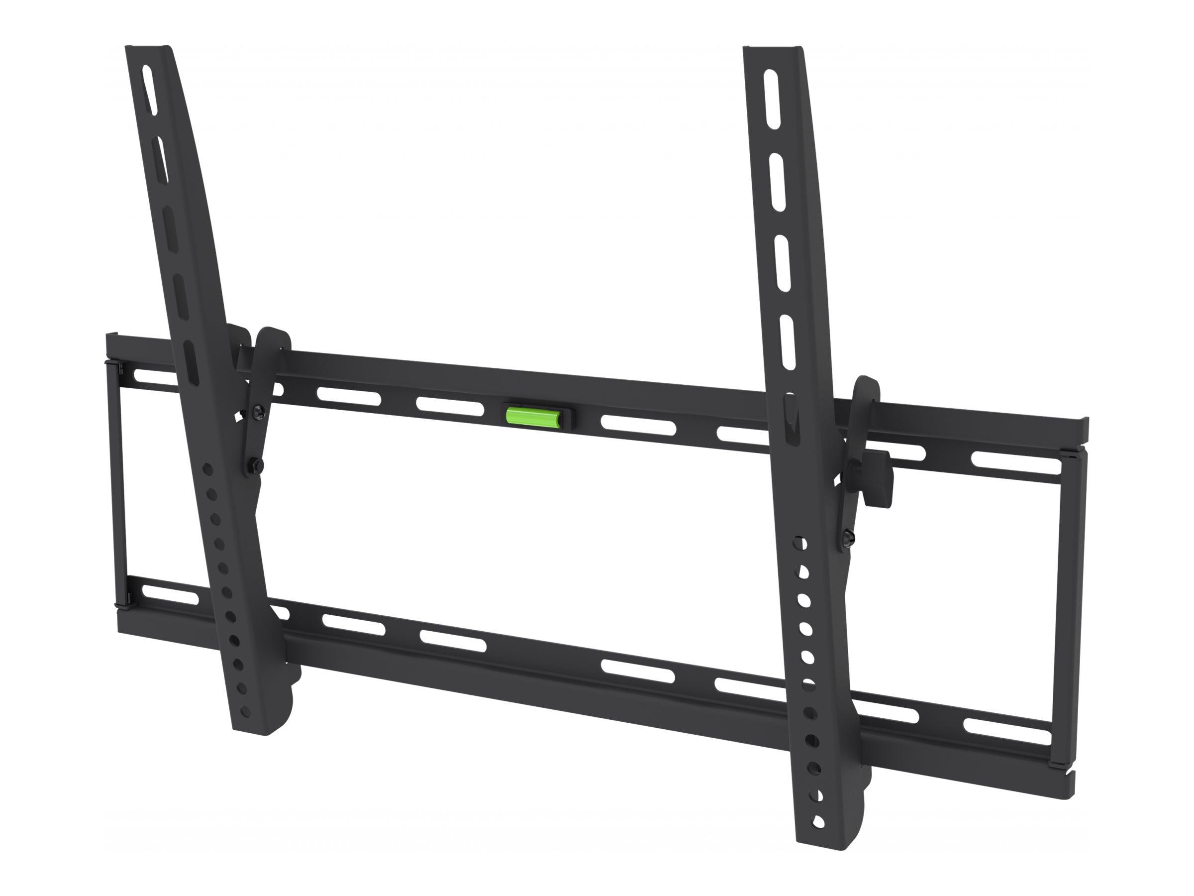 Vision VFM-W6X4TV - Wandhalterung für interaktives Flachfeld- / LCD-Display - kaltgewalzter Stahl - pulverbeschichtet schwarz -