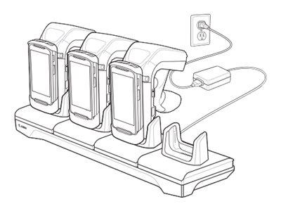 Zebra 4-Slot Charging Cradle - Batterieladegerät - Ausgangsanschlüsse: 4 - für Zebra RFD8500