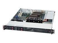 Supermicro SC111 TQ-600CB - Rack - einbaufähig - 1U - Erweitertes ATX - SATA/SAS