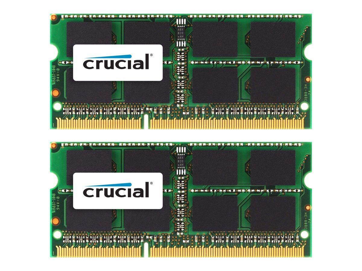 Crucial - DDR3 - 16 GB: 2 x 8 GB - SO DIMM 204-PIN - 1333 MHz / PC3-10600 - CL9