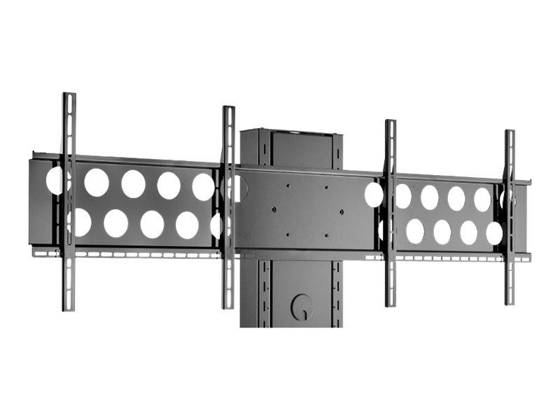 HAGOR Info-Tower - Montagekomponente (2 Montagehalterungen) - für 2 LCD-Displays - Schwarz - Bildschirmgrösse: 102-140 cm (40