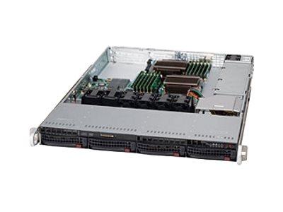 Supermicro SC815 TQC-605WB - Rack - einbaufähig - 1U - Erweitertes ATX - SATA/SAS
