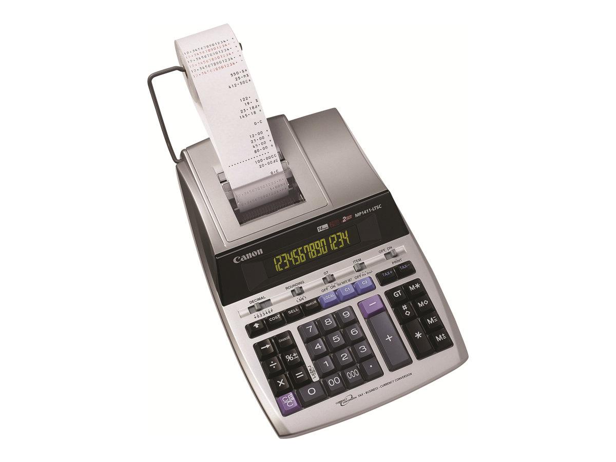 Canon MP1411-LTSC - Druckrechner - LCD - 14 Stellen - Wechselstromadapter, Speichersicherungsbatterie - Silver Metallic