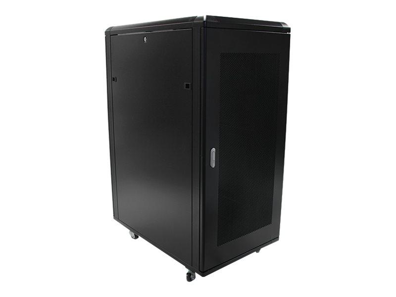 StarTech.com 25HE Zerlegbares Server Rack/ -Schrank mit Rollen - Schrank - 25U