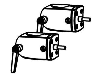 Ergotron DS100 Series - Montagekomponente (Befestigung für Stange) - Schwarz (Packung mit 2)