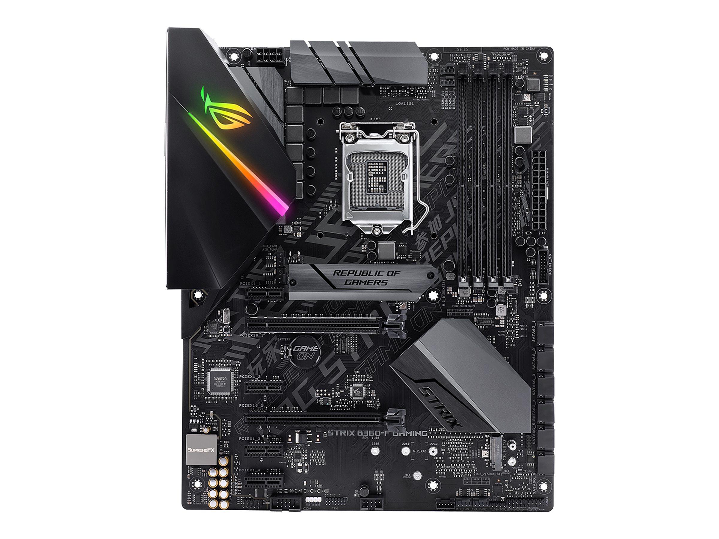 ASUS ROG STRIX B360-F GAMING - Motherboard - ATX - LGA1151 Socket - B360 - USB 3.1 Gen 1, USB-C Gen2, USB 3.1 Gen 2
