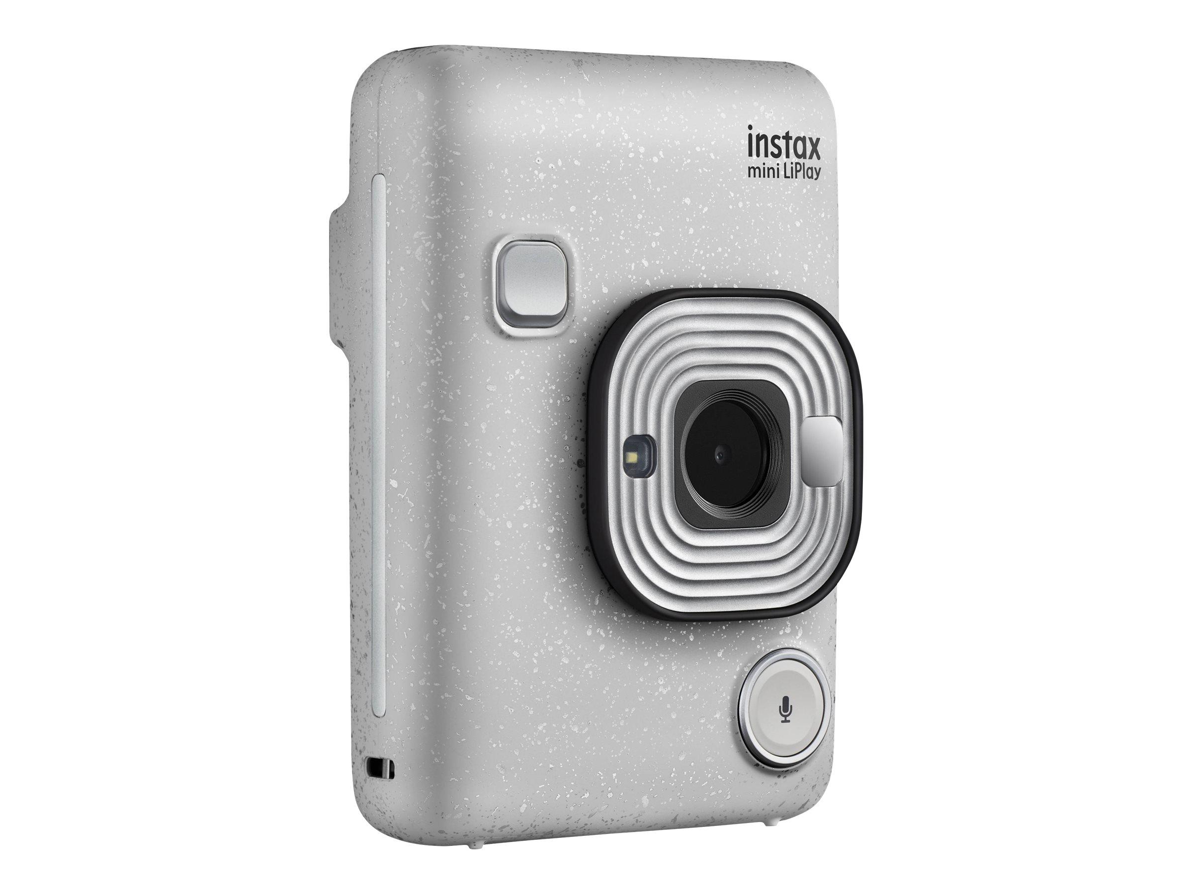 Fujifilm Instax Mini LiPlay - Digitalkamera - Kompaktkamera mit PhotoPrinter - Stone White