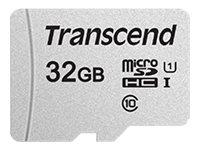 Transcend 300S - Flash-Speicherkarte - 32 GB - UHS-I U1 / Class10 - microSDHC