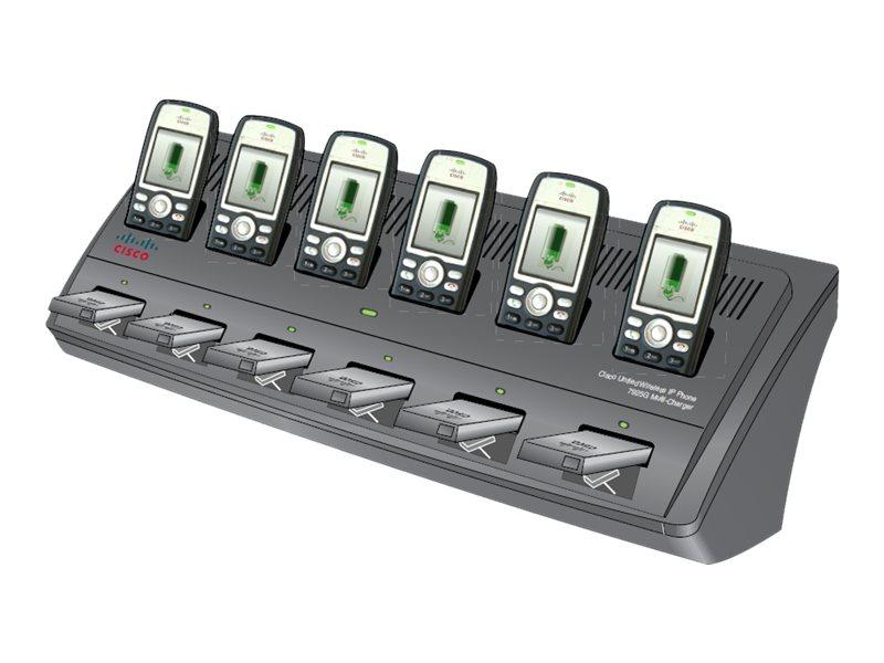 Cisco Multi-Charger - Batterieladegerät / Ladestation + AC-Netzteil - 12 Ausgabeanschlussstellen - Europa - für Unified Wireless
