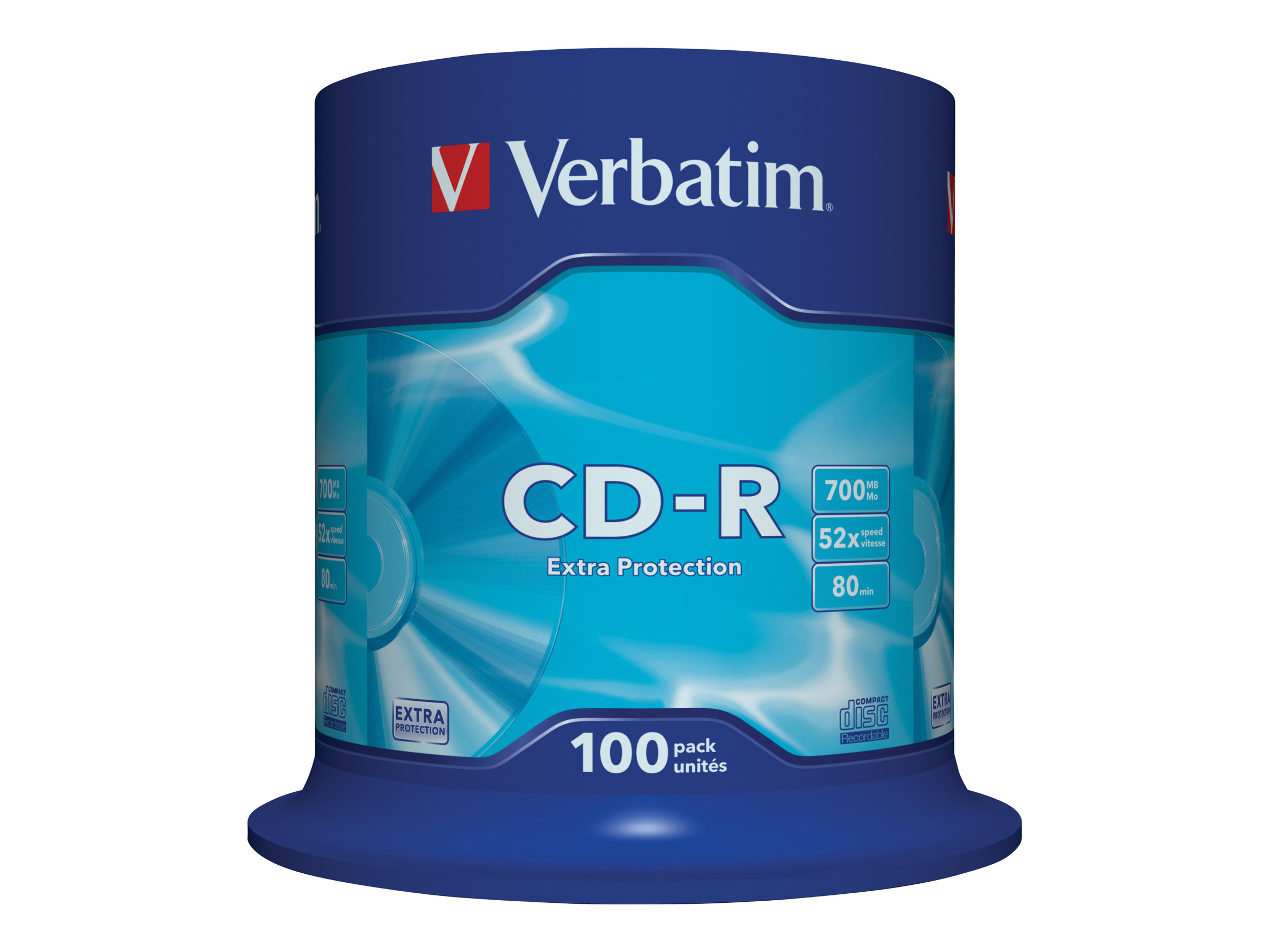 Verbatim - 100 x CD-R - 700 MB (80 Min) 52x - Spindel