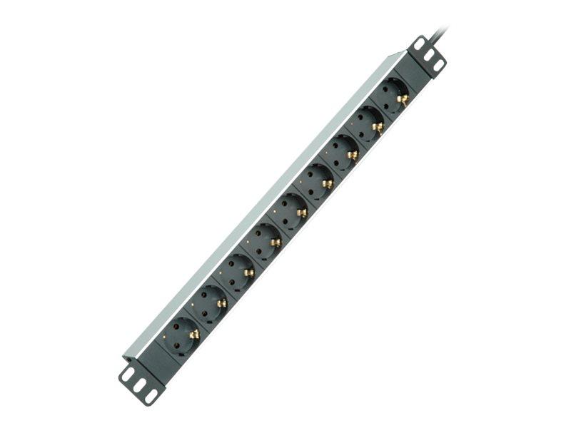 Roline - Steckdosenleiste (Rack - einbaufähig) - 250 V - 3600 Watt - Ausgangsanschlüsse: 9