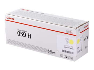 Canon 059 H - Mit hoher Kapazität - Gelb - Original - Tonerpatrone - für i-SENSYS LBP852Cx; Satera LBP851C, LBP852Ci