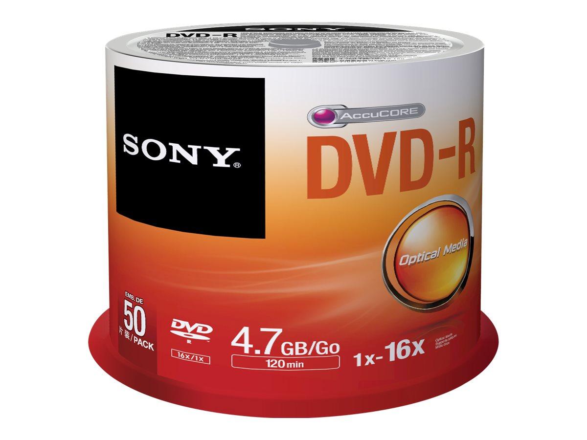 Sony DMR-47SP - 50 x DVD-R - 4.7 GB 16x - Spindel