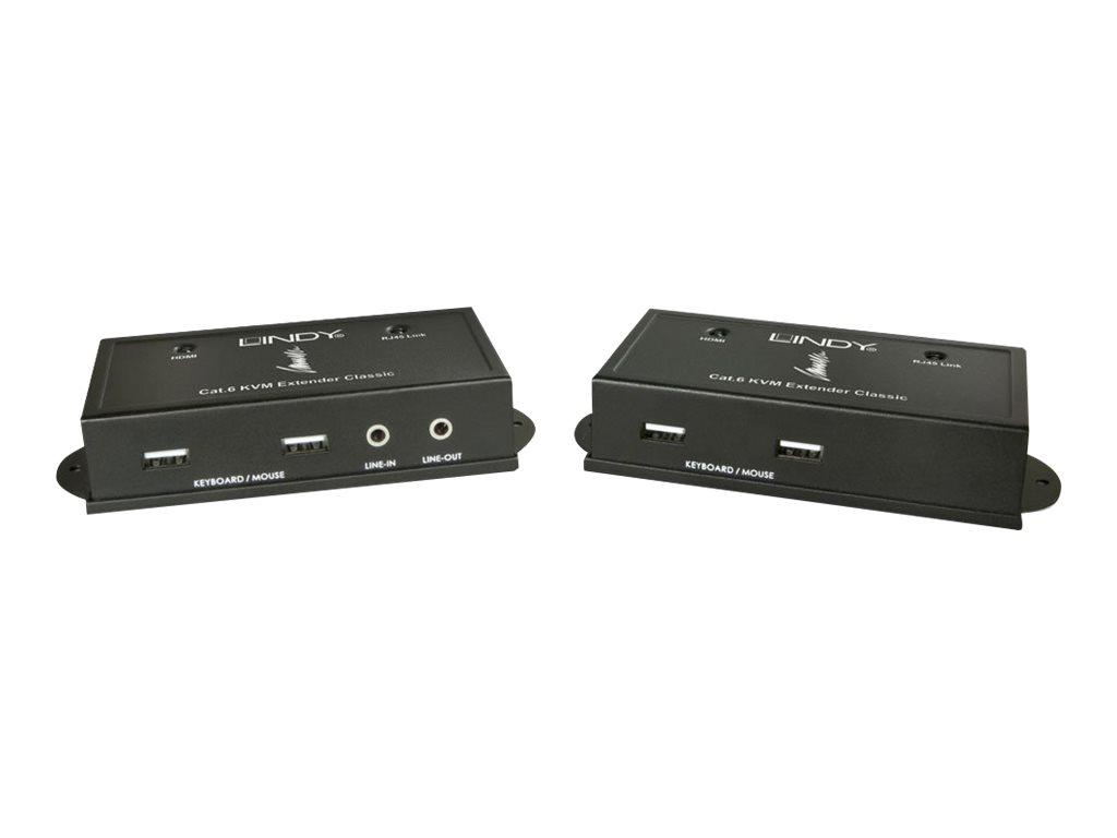 LINDY CAT6 HDMI & USB KVM Extender - KVM-/Audio-Extender - USB - bis zu 50 m