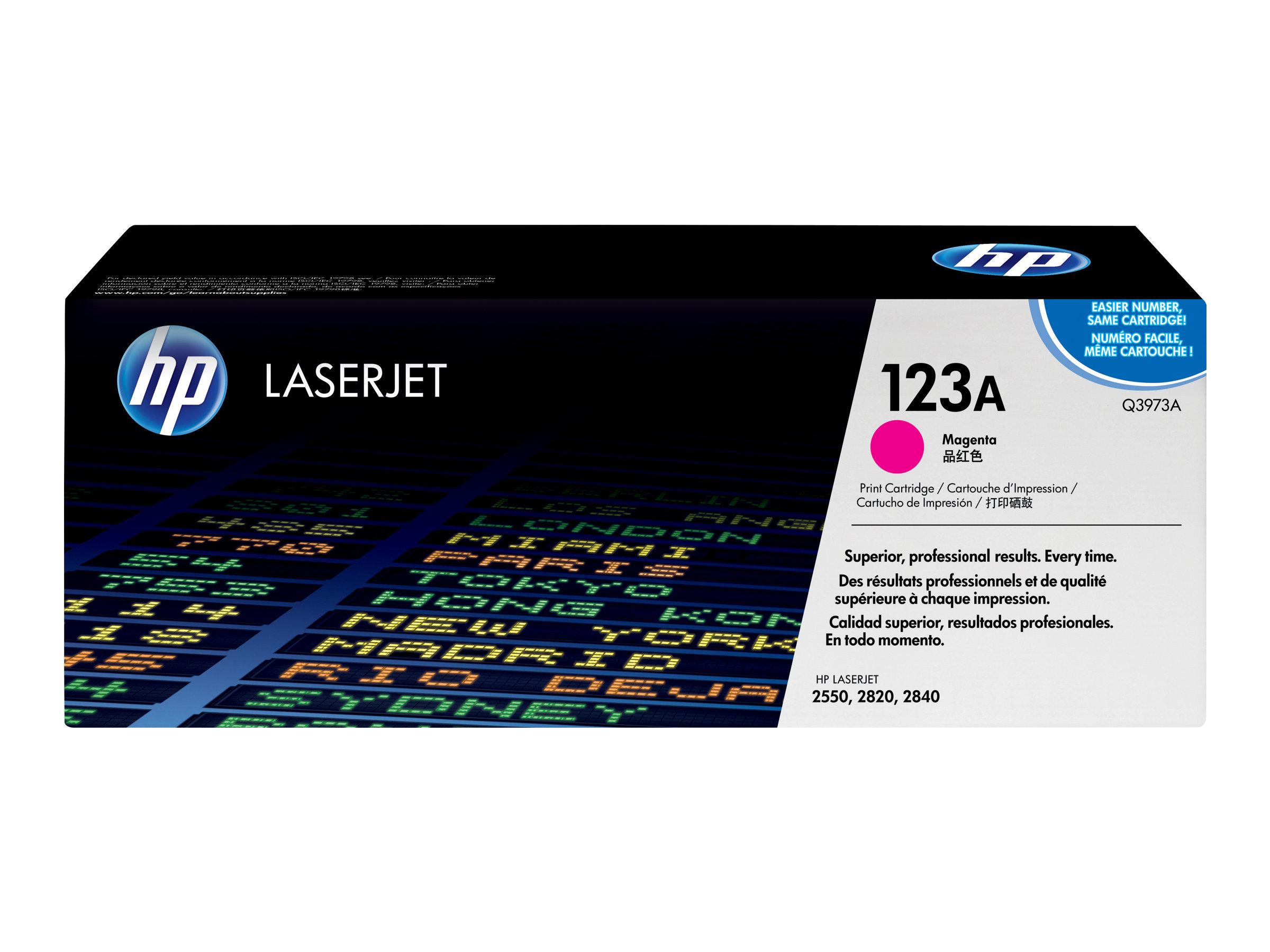 HP 123A - Magenta - Original - LaserJet - Tonerpatrone (Q3973A) - für Color LaserJet 2550L, 2550Ln, 2550n, 2820, 2830, 2840