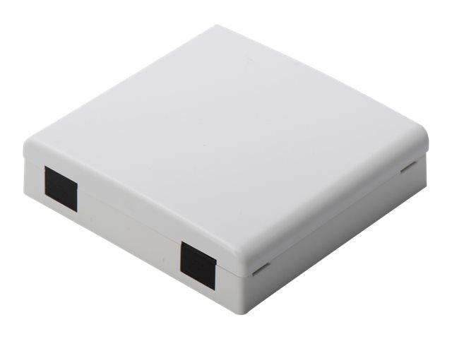 DIGITUS Professional DN-931087 - Ausgang - geeignet für Wandmontage - Grau, RAL 7035 - 2 Ports