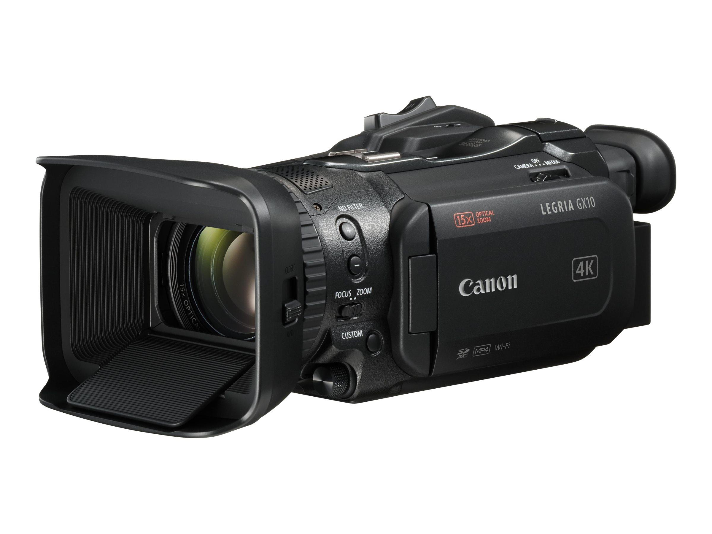 Canon LEGRIA GX10 - Camcorder - 4K / 50 BpS - 13.4 MPix - 15x optischer Zoom - Flash-Karte