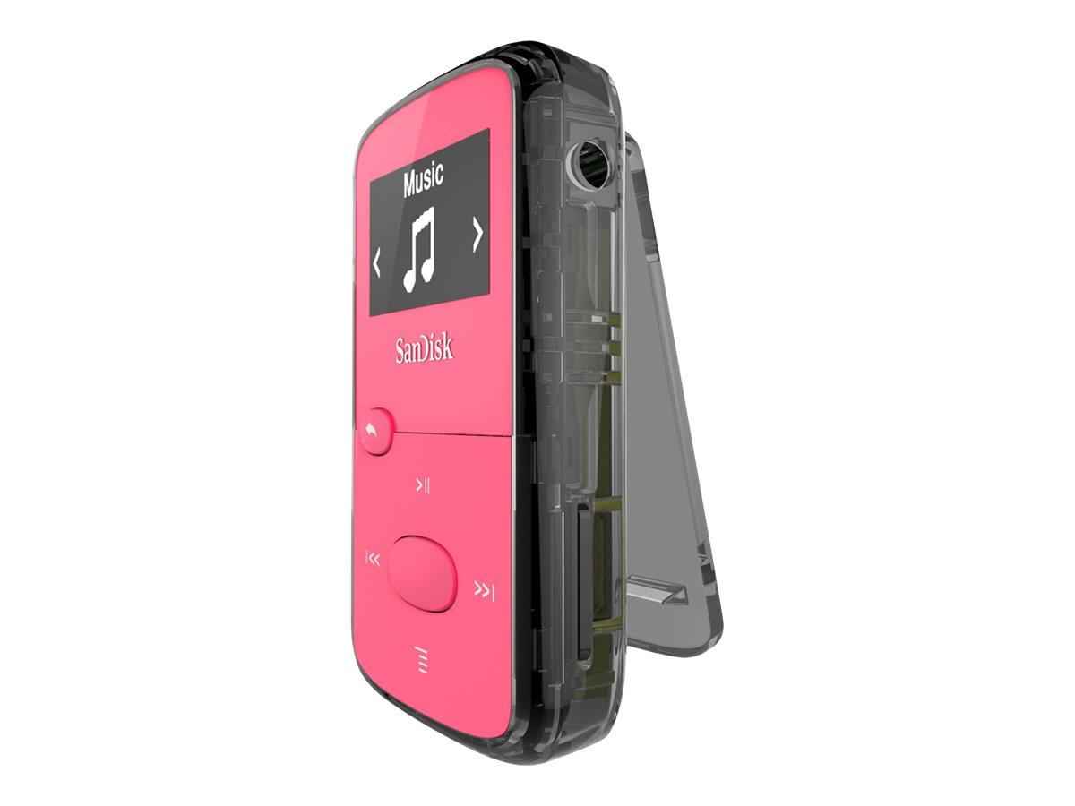 SanDisk Clip Jam - Digital Player - 8 GB - pink