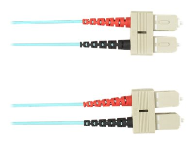 Black Box - Patch-Kabel - SC multi-mode (M) bis SC multi-mode (M) - 3 m - Glasfaser - Aquamarin