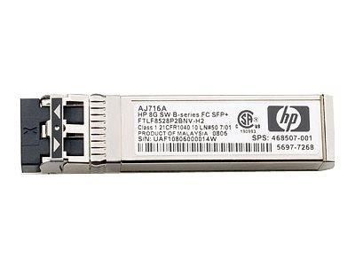 HPE B-Series - SFP+-Transceiver-Modul - 8 GB Fibre Channel (SW) - Fibre Channel - wieder auf den Markt gebracht - für Brocade 16