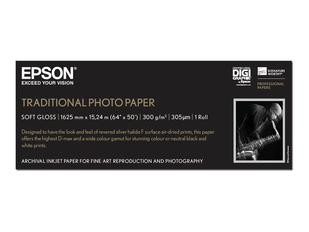 Epson Traditional Photo Paper - Rolle (162,6 cm x 15 m) - 300 g/m² - Fotopapier - für Stylus Pro 11880; SureColor SC-P20000