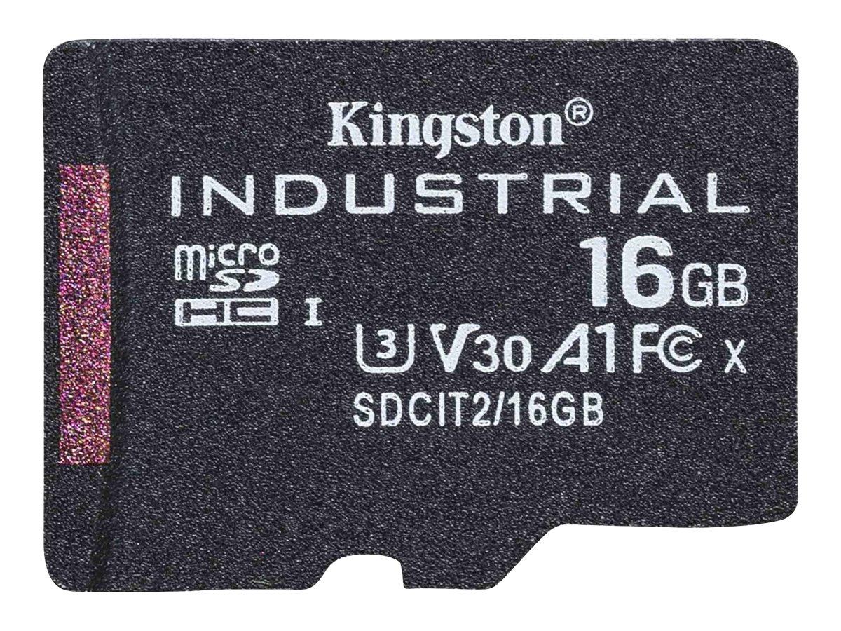 Kingston Industrial - Flash-Speicherkarte - 16 GB - A1 / Video Class V30 / UHS-I U3 / Class10 - microSDHC UHS-I
