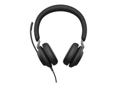 Jabra Evolve2 40 MS Stereo - Headset - On-Ear - kabelgebunden - USB-A - Geräuschisolierung