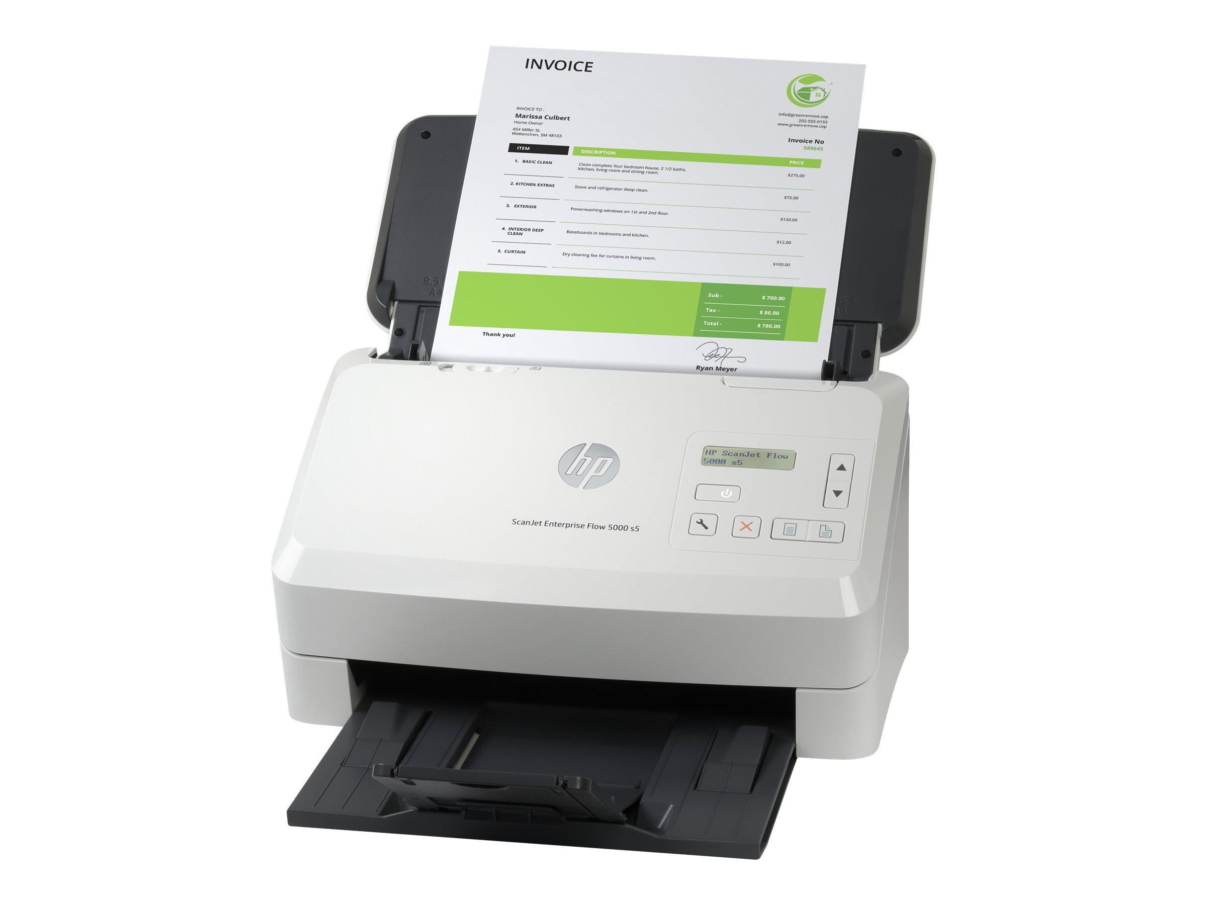 HP ScanJet Enterprise Flow 5000 s5 - Dokumentenscanner - CMOS / CIS - Duplex - 216 x 3100 mm - 600 dpi x 600 dpi