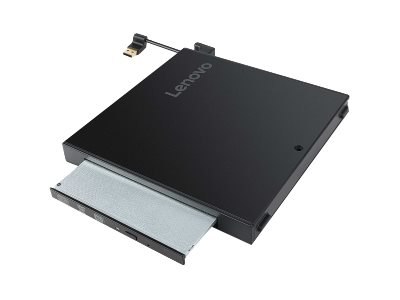 Lenovo Tiny IV DVD Burner Kit - Laufwerk - DVD-Writer - USB - extern - für ThinkCentre M710q; M715q (2nd Gen); M720q; M910q; M91