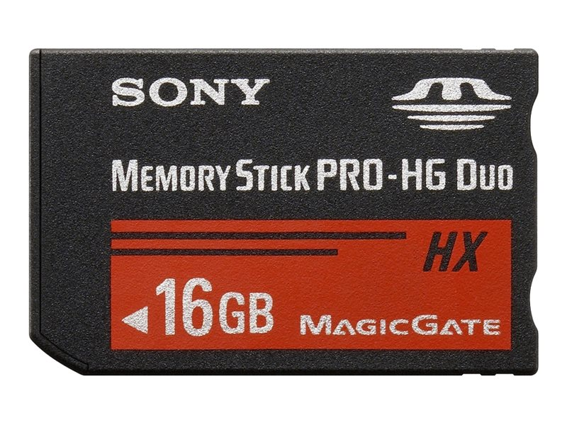 Sony MSHX16B - Flash-Speicherkarte - 16 GB - Memory Stick PRO-HG Duo - für Cyber-shot DSC-HX10, TX100; Handycam HDR-CX740, PJ50,