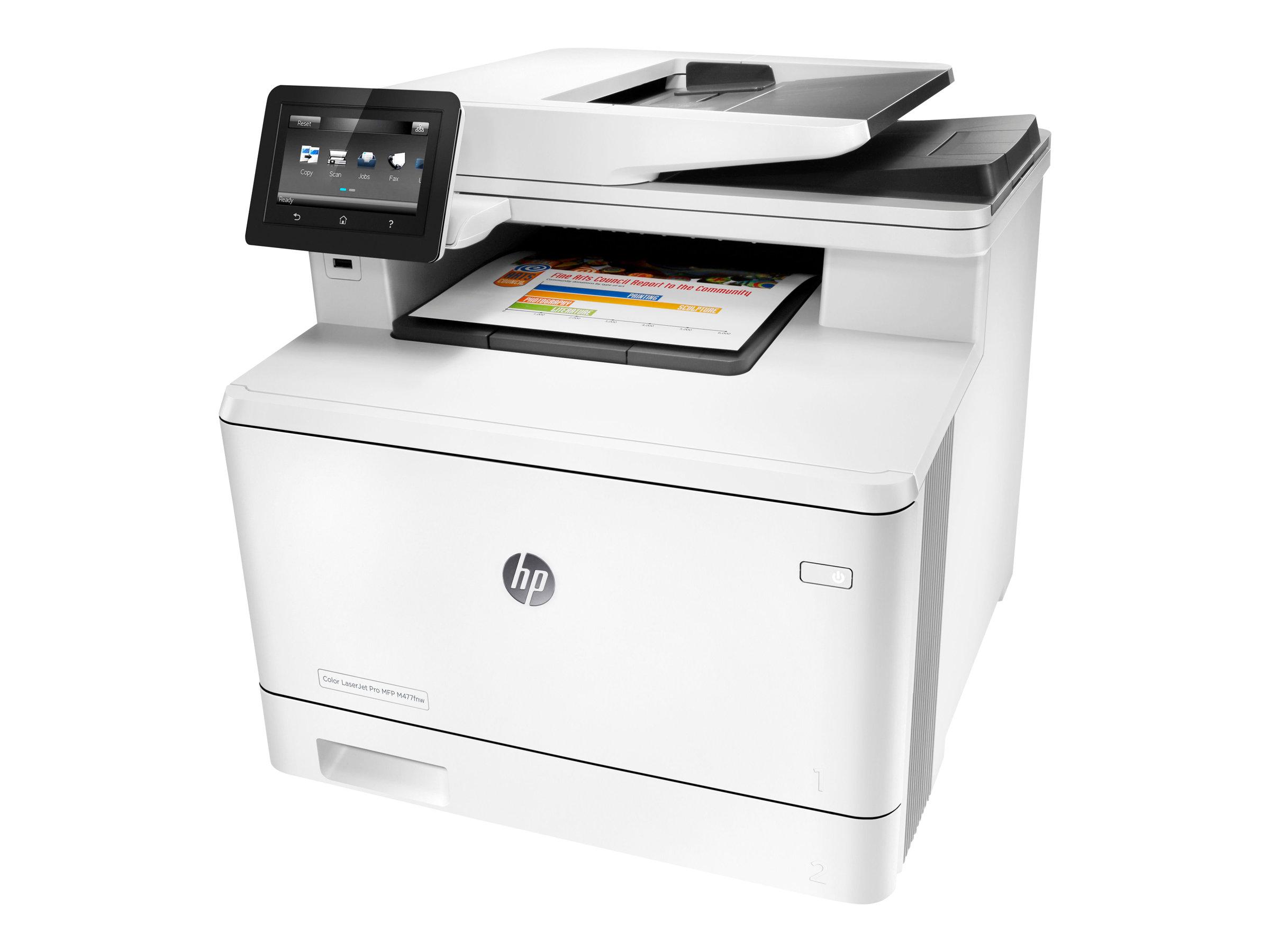HP Color LaserJet Pro MFP M477fnw - Multifunktionsdrucker - Farbe - Laser - Legal (216 x 356 mm) (Original) - A4/Legal (Medien)