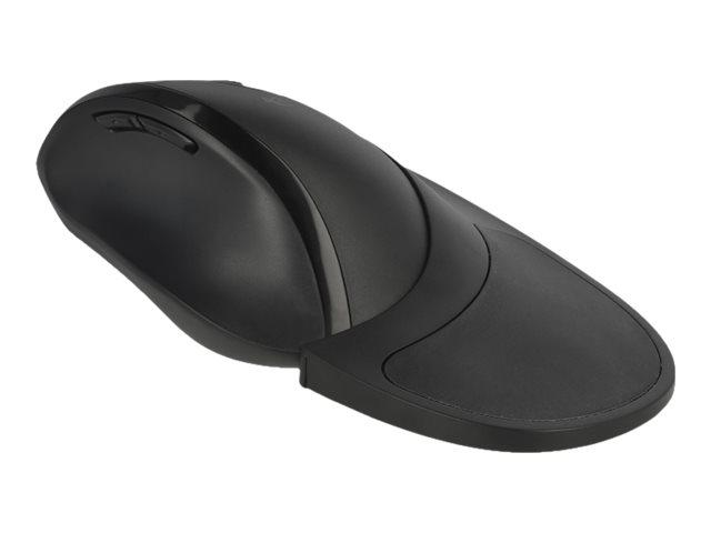 DeLOCK Ergonomic - Maus - ergonomisch - Für Rechtshänder - optisch - 5 Tasten