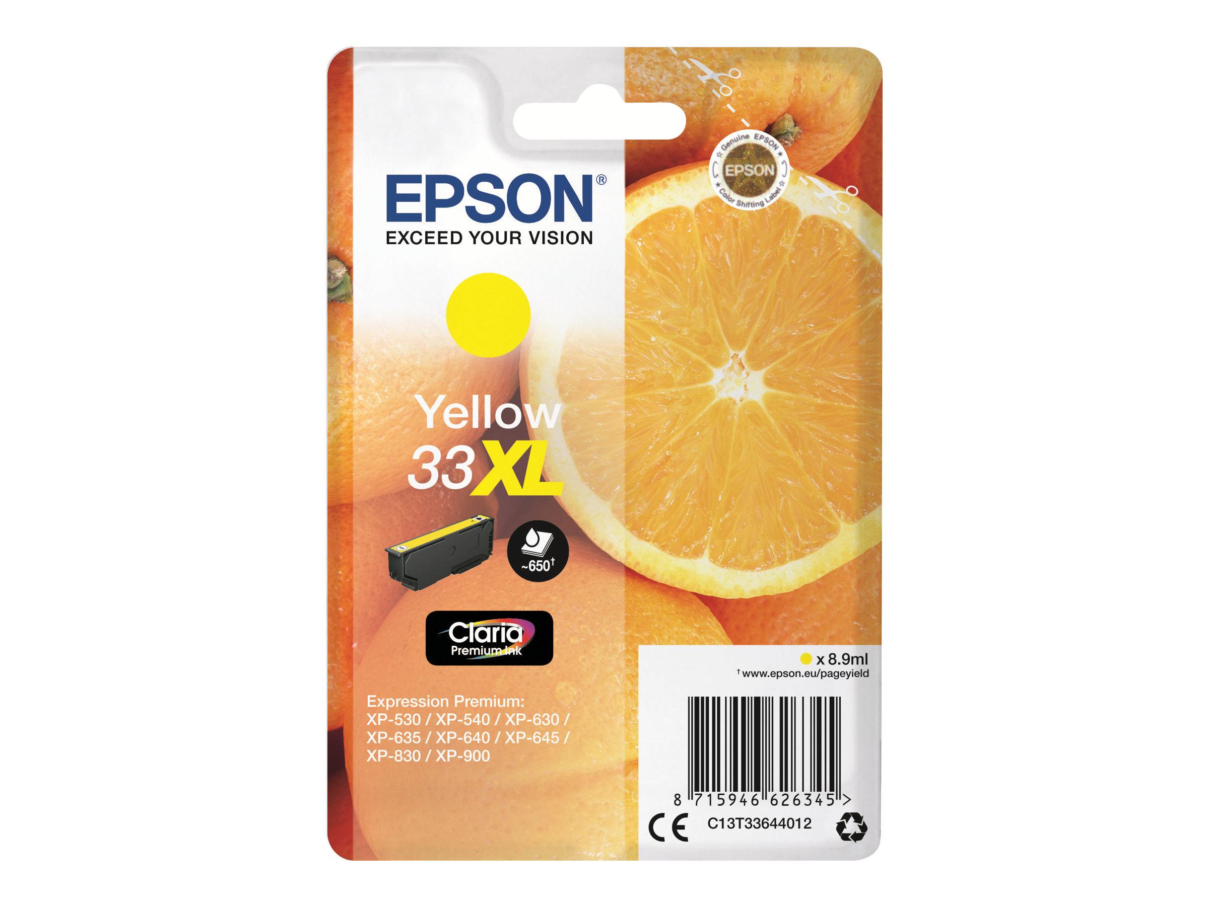 Epson 33XL - 8.9 ml - XL - Gelb - Original - Blisterverpackung
