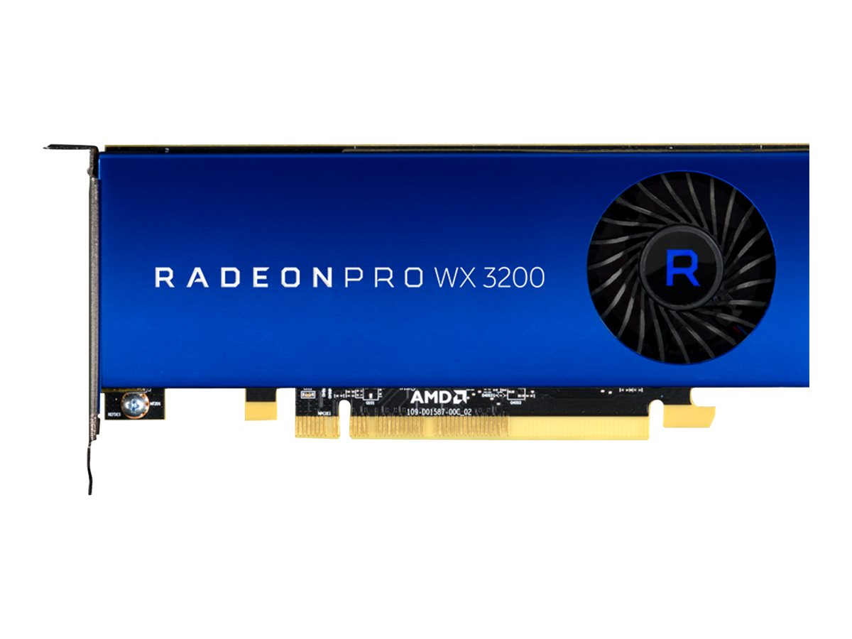 AMD Radeon Pro WX 3200 - Grafikkarten - Radeon Pro WX 3200 - 4 GB GDDR5 - PCIe 3.0 x16 Low-Profile - 4 x Mini DisplayPort
