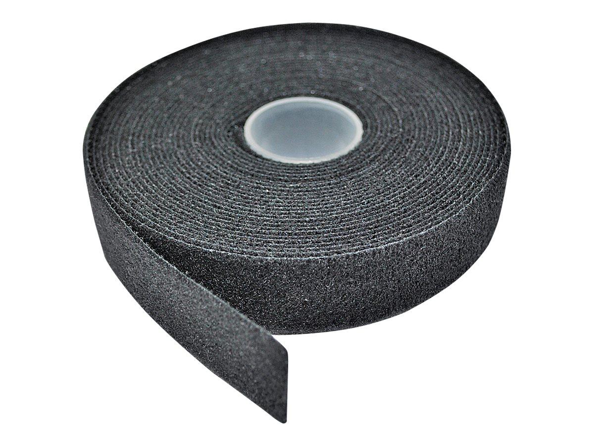 LINDY - Klettverschlussriemen für Kabelmanagement - 5 m - Schwarz