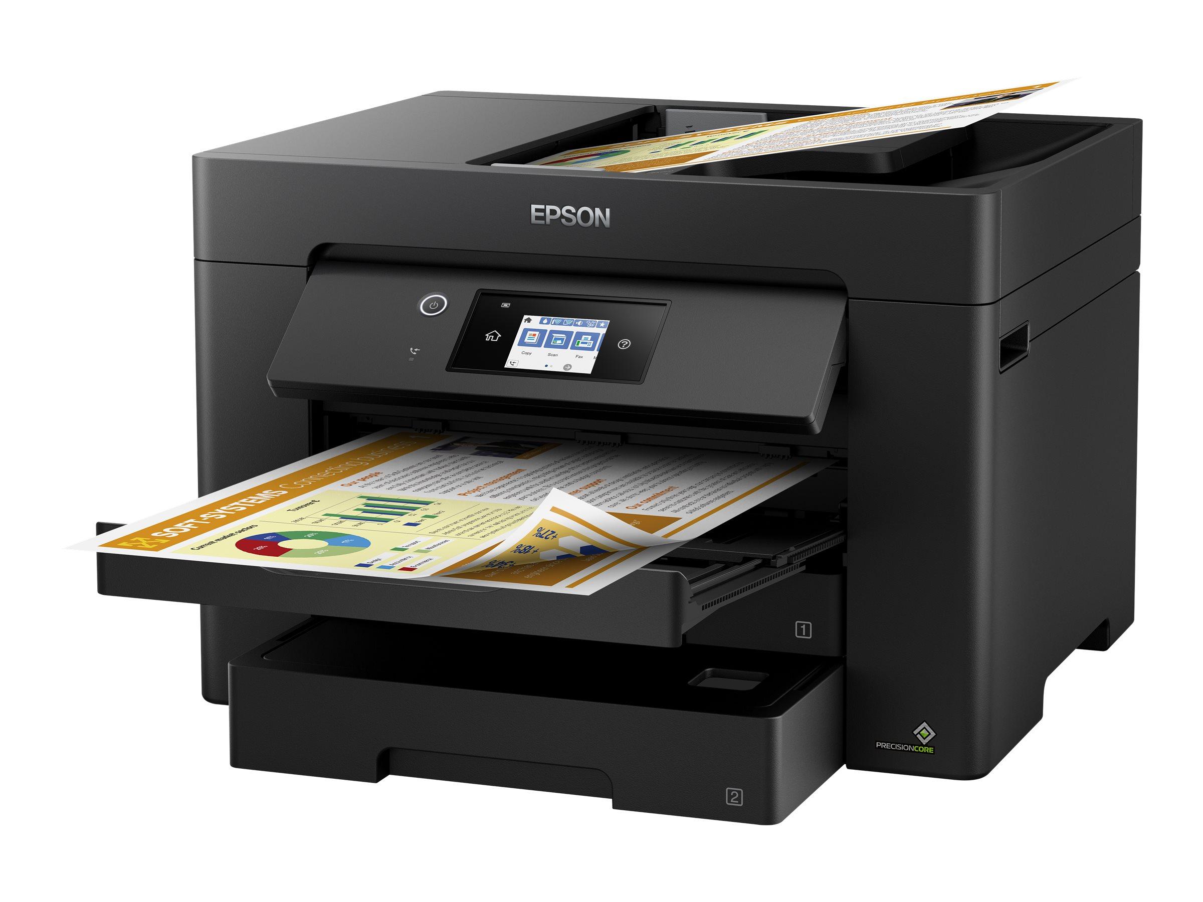 Epson WorkForce WF-7830DTWF - Multifunktionsdrucker - Farbe - Tintenstrahl - A3 (297 x 420 mm) (Original) - A3 (Medien)