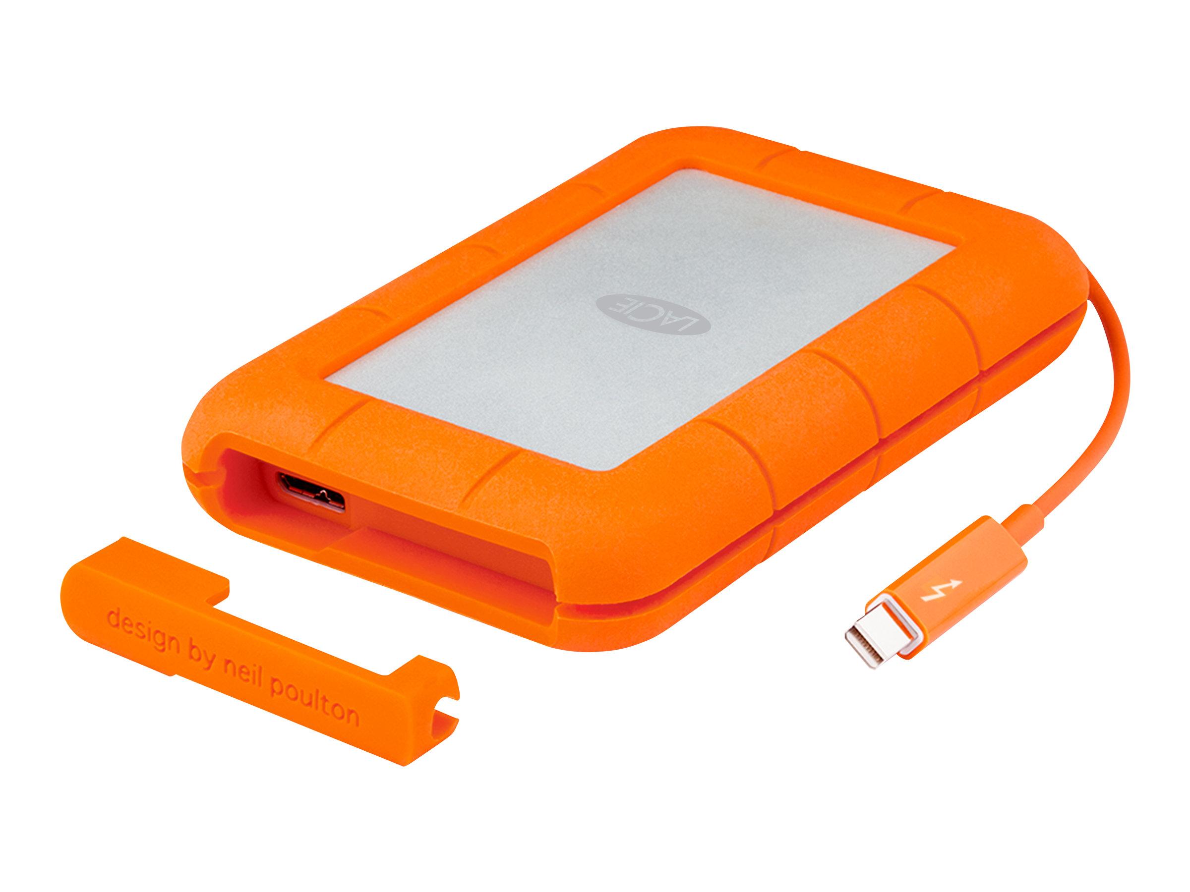 LaCie Rugged Thunderbolt - Festplatte - 2 TB - extern (tragbar) - USB 3.0 / Thunderbolt - 256-Bit-AES