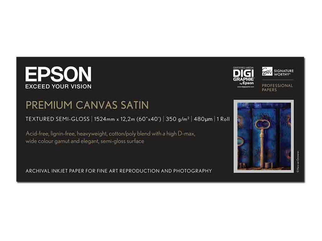 Epson PremierArt Water Resistant Canvas - Glänzend - 465 Mikron - Roll (152.4 cm x 12.2 m) - 350 g/m² - 1 Rolle(n) Leinwandpapie