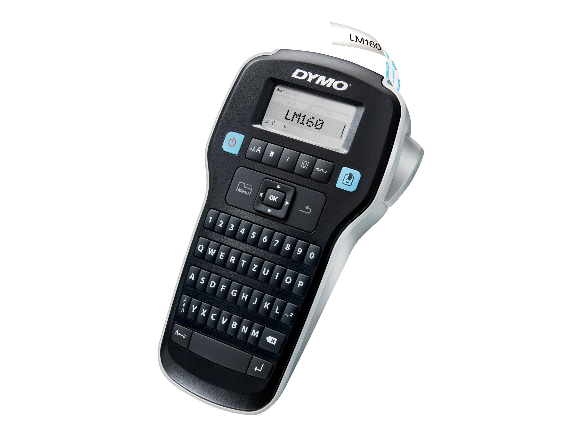 DYMO LabelMANAGER 160 - Beschriftungsgerät - monochrom - Rolle (1,3 cm) - 2-zeiliger Druck