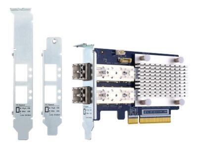 QNAP QXP-16G2FC - Hostbus-Adapter - PCIe 3.0 x8 Low-Profile - 16Gb Fibre Channel Gen 5 x 2 - mit 2 x SFP+-Transceiver (TRX-16GFC